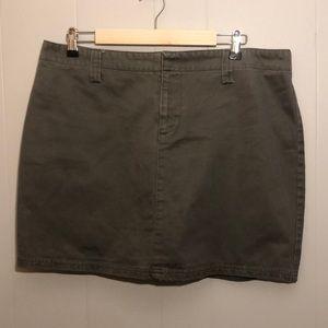 Olive green jean skirt